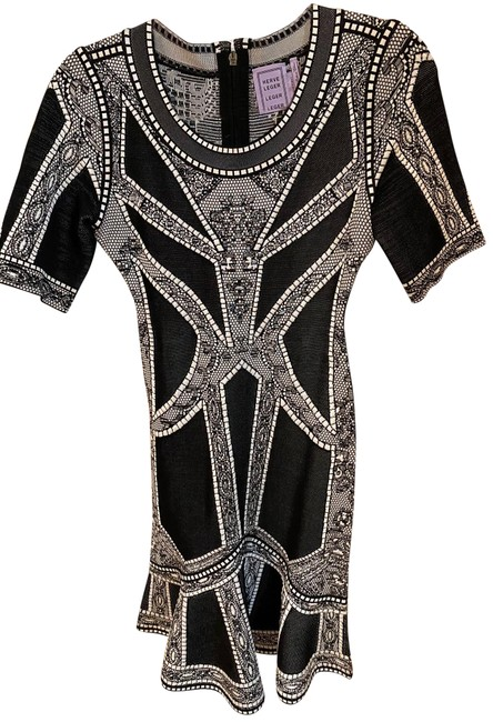 Item - White & Black Mid-length Night Out Dress Size 6 (S)