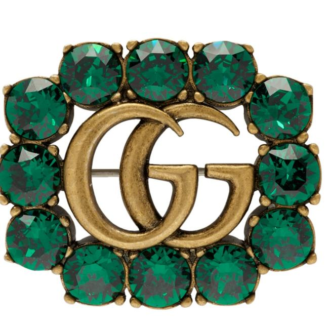 Item - Green Gold Double G Brooch