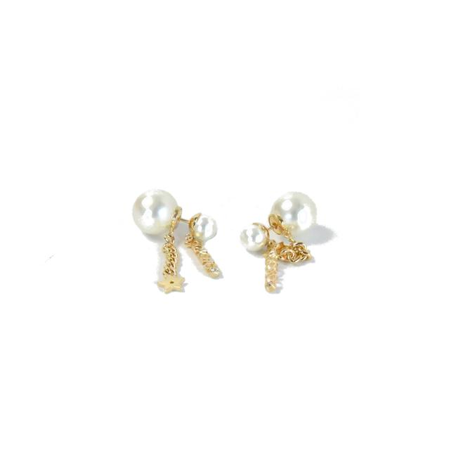 Item - Pearl with Chain Earrings