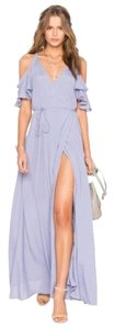Privacy Please Maxi Ruffle Cold Shoulder Wrap Dress