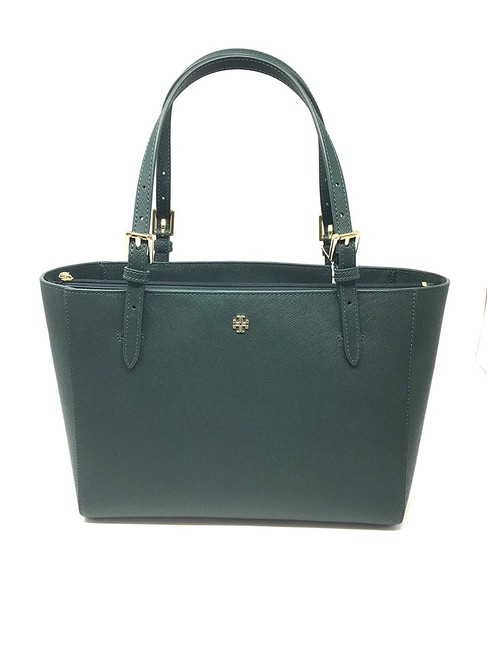 Item - Small Buckle Jitney Green Saffiano Leather Tote