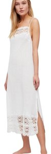 White Maxi Dress by Free People Cotton Maxi Crochet Lace