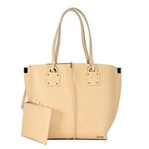 Chloé Leather Tote in Blonde Beige