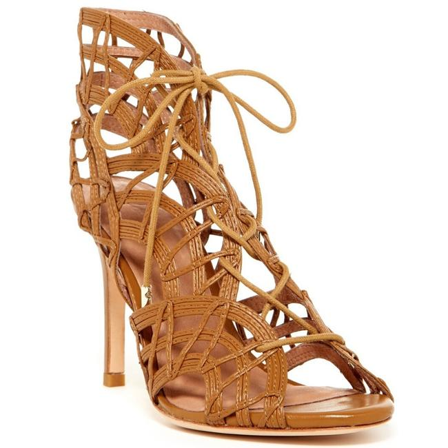Joie Camel Leah Lace-up Cage Sandal Boots/Booties Size EU 37 (Approx. US 7) Regular (M, B) Joie Camel Leah Lace-up Cage Sandal Boots/Booties Size EU 37 (Approx. US 7) Regular (M, B) Image 1