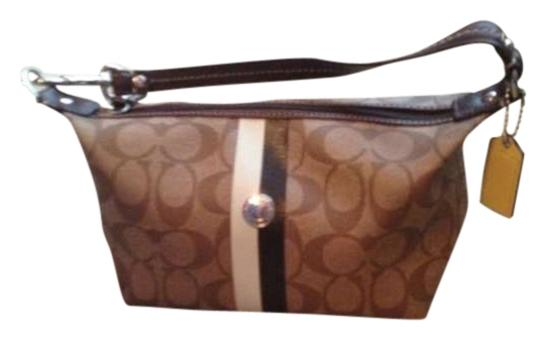 Preload https://item2.tradesy.com/images/coach-tan-and-brown-pvc-leather-baguette-265441-0-0.jpg?width=440&height=440