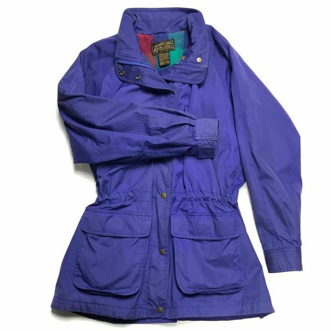 Item - Purple Vintage Colorful Plaid Flannel Wool Blanket Lined Parka Coat Size 16 (XL, Plus 0x)