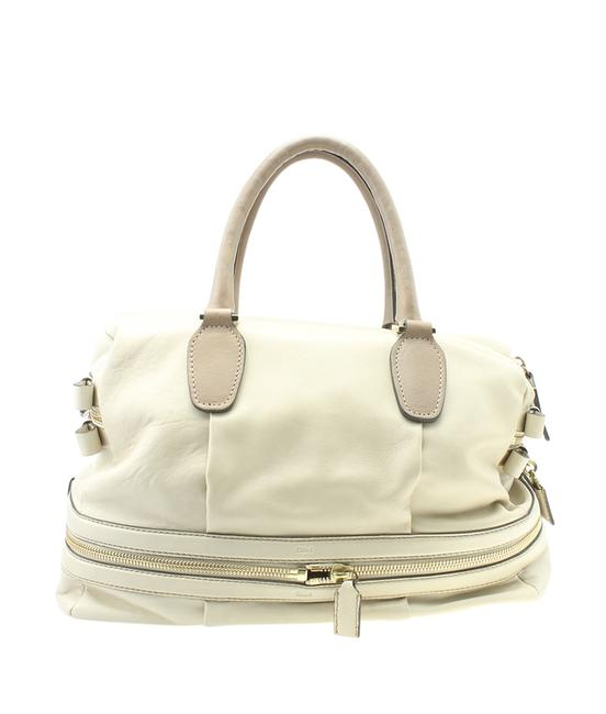 Item - Large Andy (180815) White Leather Satchel