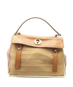 Yves Saint Laurent Leather Satchel in Brown