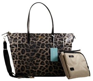 Kate Spade Leopard Print Black Grey Diaper Bag