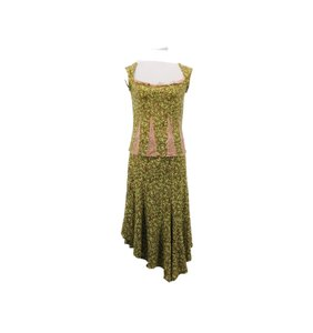 Print with light green/pink/brown Maxi Dress by Parallel