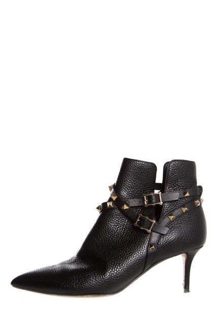 Item - Black Rockstud Strappy Pointed Boots/Booties Size EU 39.5 (Approx. US 9.5) Regular (M, B)