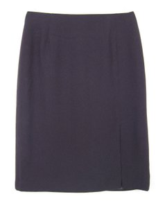 Focus 2000 Straight Pencil Zipper Slit Lined Skirt Purple