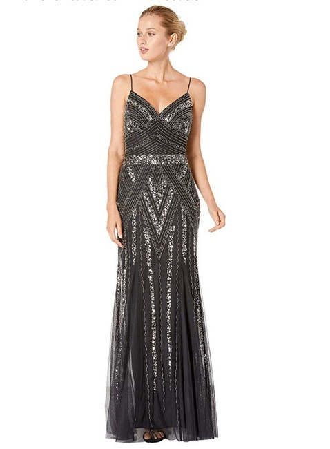 Item - Black Beaded Sequin Gown Long Formal Dress Size 8 (M)