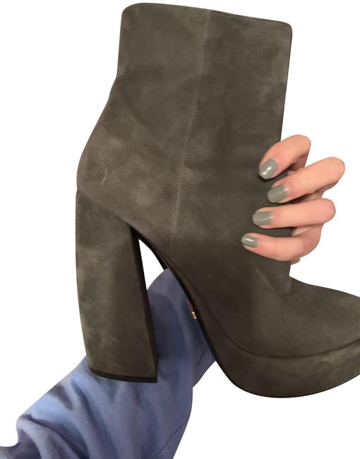 Item - Grey Platform Boots/Booties Size EU 39 (Approx. US 9) Regular (M, B)