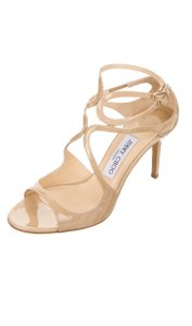 Jimmy Choo Patent Leather Nude/beige Sandals