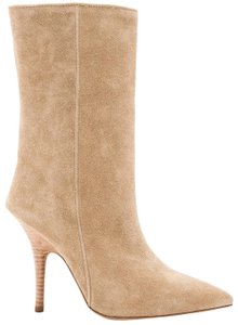 YEEZY Suede Pointed Toe Nude Taupe Boots