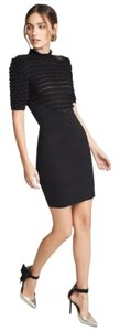 Ronny Kobo Collection Knit Stretch Ruffle Bodycon Dress