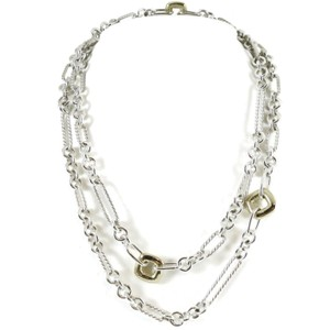 "David Yurman David Yurman Sterling Silver 18K 36"" Cushion Figaro Chain Necklace"