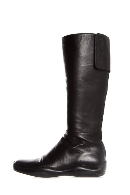 Item - Black Midcalf Leather Boots/Booties Size EU 37.5 (Approx. US 7.5) Regular (M, B)