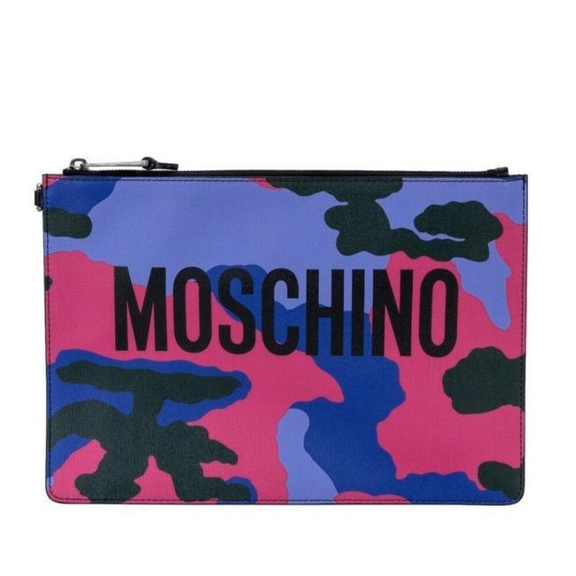 Item - XL Aw17 Couture Jeremy Scott Camouflage Purple Pink Multicolor Leather Clutch
