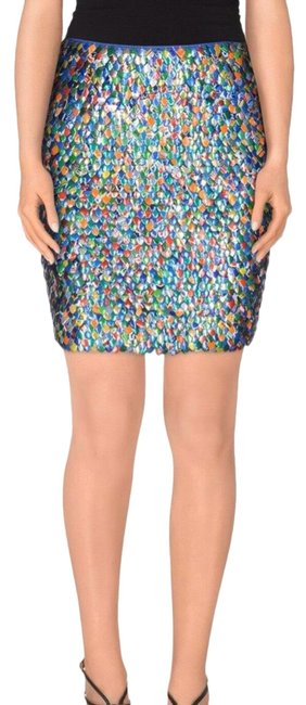 Item - Multicolor *runway* Couture X Jeremy Scott Cans Cola Soda Can Tabs Silk Rare Skirt Size 4 (S, 27)
