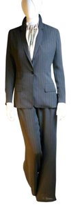 Hermes Authentic Vintage Hermes Pinstriped Silk Pant Suit Sz 36
