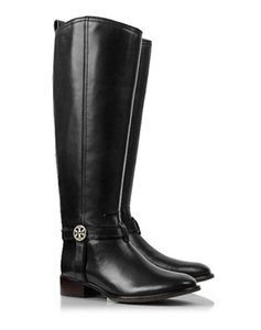 Tory Burch Bristol Riding Leather 9 Coconut Boots