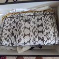 Gucci Grey and White Python Skin Leather Cross Body Bag Gucci Grey and White Python Skin Leather Cross Body Bag Image 2