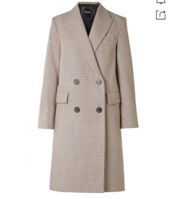 Item - Genesis Double-breasted Houndstooth Coat Size 6 (S)
