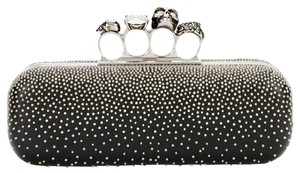 Alexander McQueen Studded Swarovski Crystals Made In Italy black Clutch