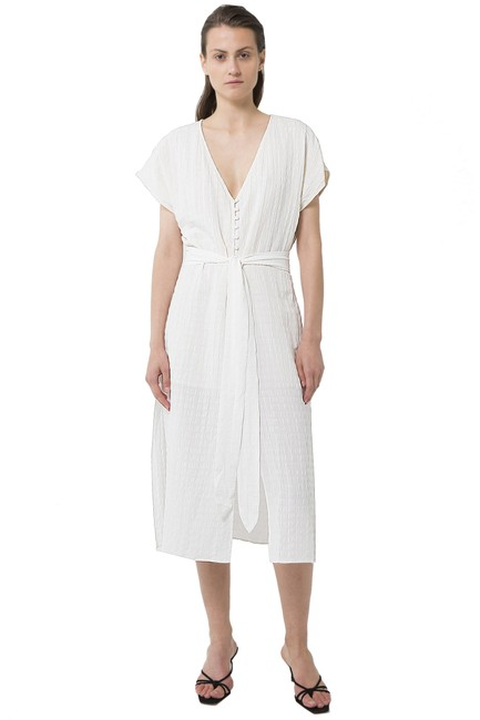 Item - White Third Form Day Break Tie Front Mid-length Casual Maxi Dress Size 4 (S)