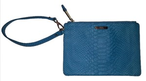 Cole Haan Alligator Print Wristlet in Turquoise