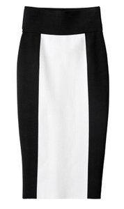 Balmain x H&M Color Zip Knit Pencil Skirt Black & White
