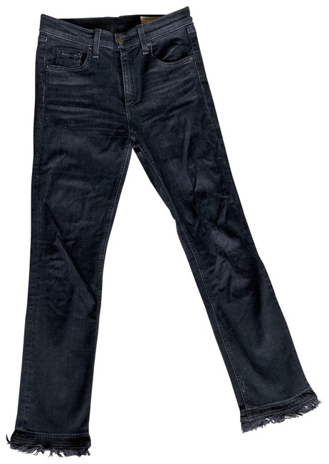 Item - Black And Frayed Skinny Jeans Size 0 (XS, 25)