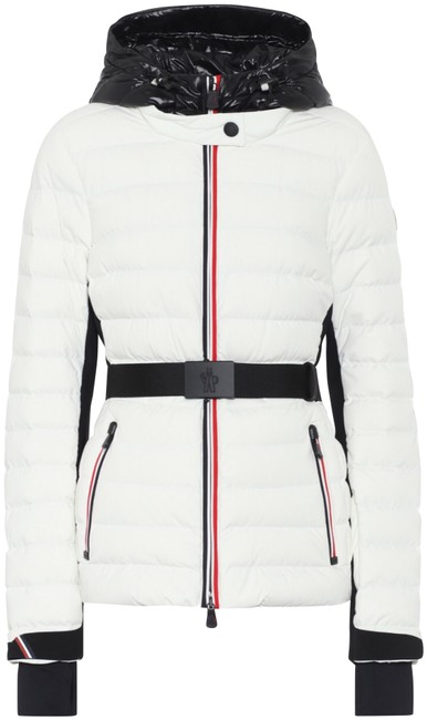Item - White XS Grenoble 2019 Off Black Belted Ivory Quilted Puffer Jacket Coat Size 0 (XS)