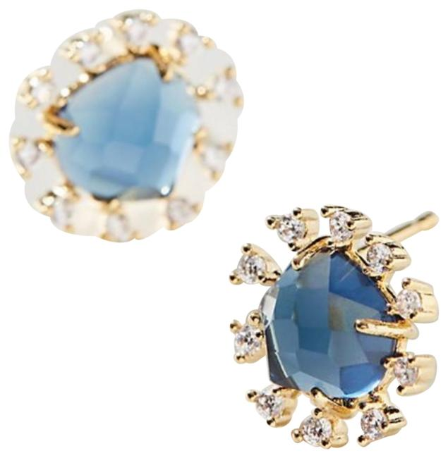 Item - Blue Sunny Crystals Post Earrings