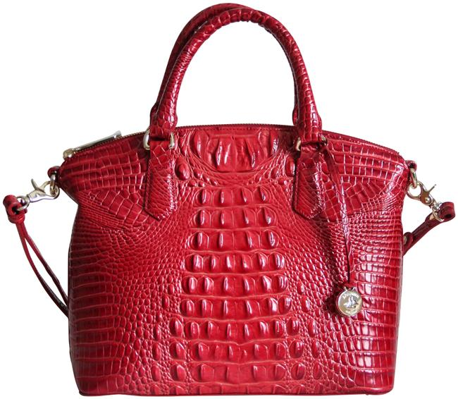 Item - Duxbury Textured Lava Melbourne Red Leather Satchel