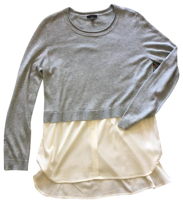 Item - Gray and Ivory Layered Look Tunic Size 8 (M)