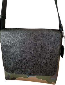 Coach Leather Charles GREEN MULTI Messenger Bag