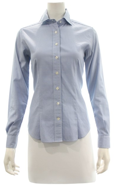 Item - Blue & White Shirt Small Button-down Top Size 4 (S)