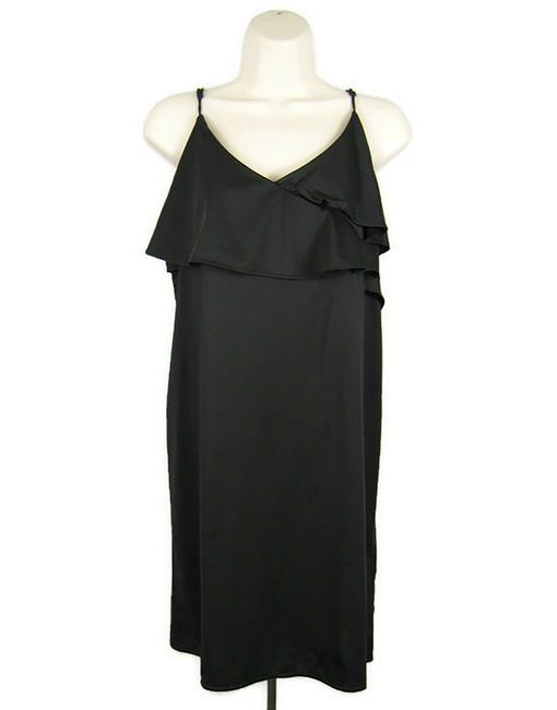 H&M Black Slip Tiered Sleeveless Spaghetti Straps Mid-length Night Out Dress Size 8 (M) H&M Black Slip Tiered Sleeveless Spaghetti Straps Mid-length Night Out Dress Size 8 (M) Image 1