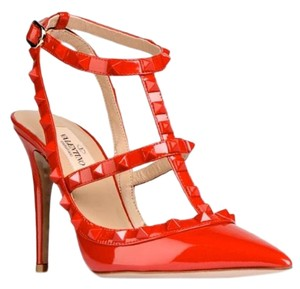 Valentino Rockstud Patent Leather Rare Red Pumps