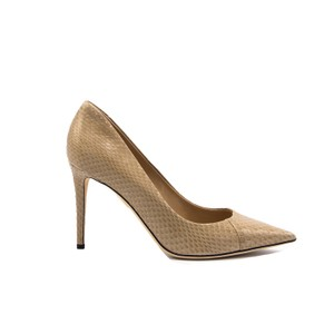 Tamara Mellon Formal Leather Lizard Beige Pumps