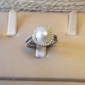 David Yurman David Yurman Pearl Diamond Cable Ring