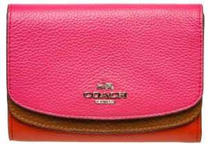 Coach ri-Color Pebbled Leather Compact 494909