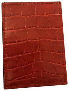 Neiman Marcus Red Leather Credit Card Holder