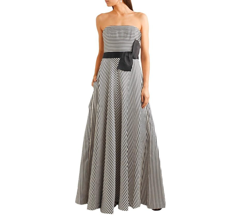 Bow Detail Gown Long Formal Dress
