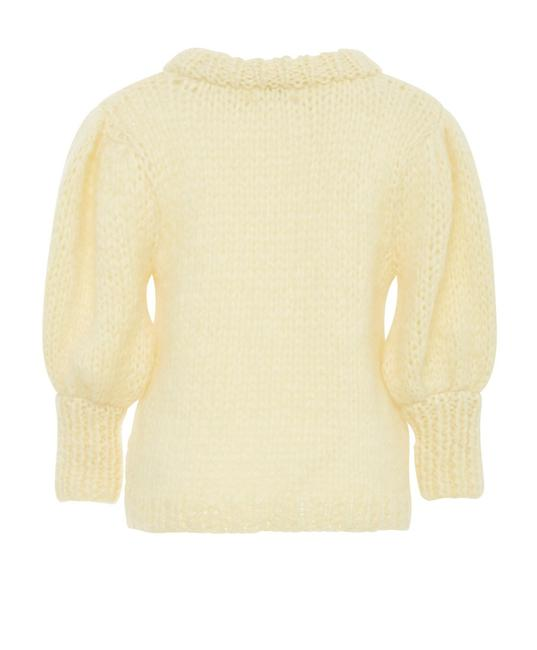 Item - Mohair and Wool Blend Short Sleeves Anise Flower Sweater