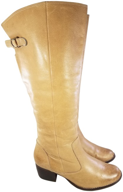 Item - Tan Equestrian Riding Leather Tall Campus Boots/Booties Size US 7.5 Regular (M, B)