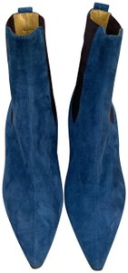 Lambertson Truex Suede Leather Lined Slip-on Blue Boots